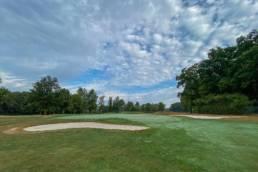 bunkers en green hole 8 van Golf & Country Club Christnach