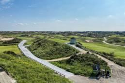 Zicht vanaf het terras van de Noordwijkse Golfclub