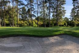 Green en bunker op Royal Golf Club du Hainaut