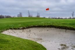De green van hole 3 op Golfbaan Dirkshorn